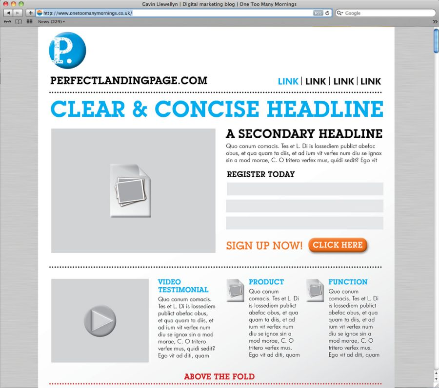 Create a Landing Page. Create a Landing Page by Yourself.